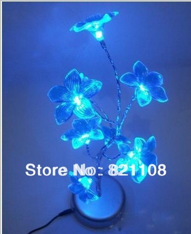 2013  NEW  DIY  Blue Lily Night lights/Mini tree night lights/Gift lamp Free Shipping