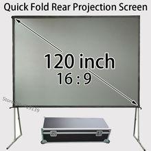 En gros Rapide Installer Arrière Écran De Projection 120 pouces 16:9 HDTV Projecteur Écrans Pour Naturel Image Claire