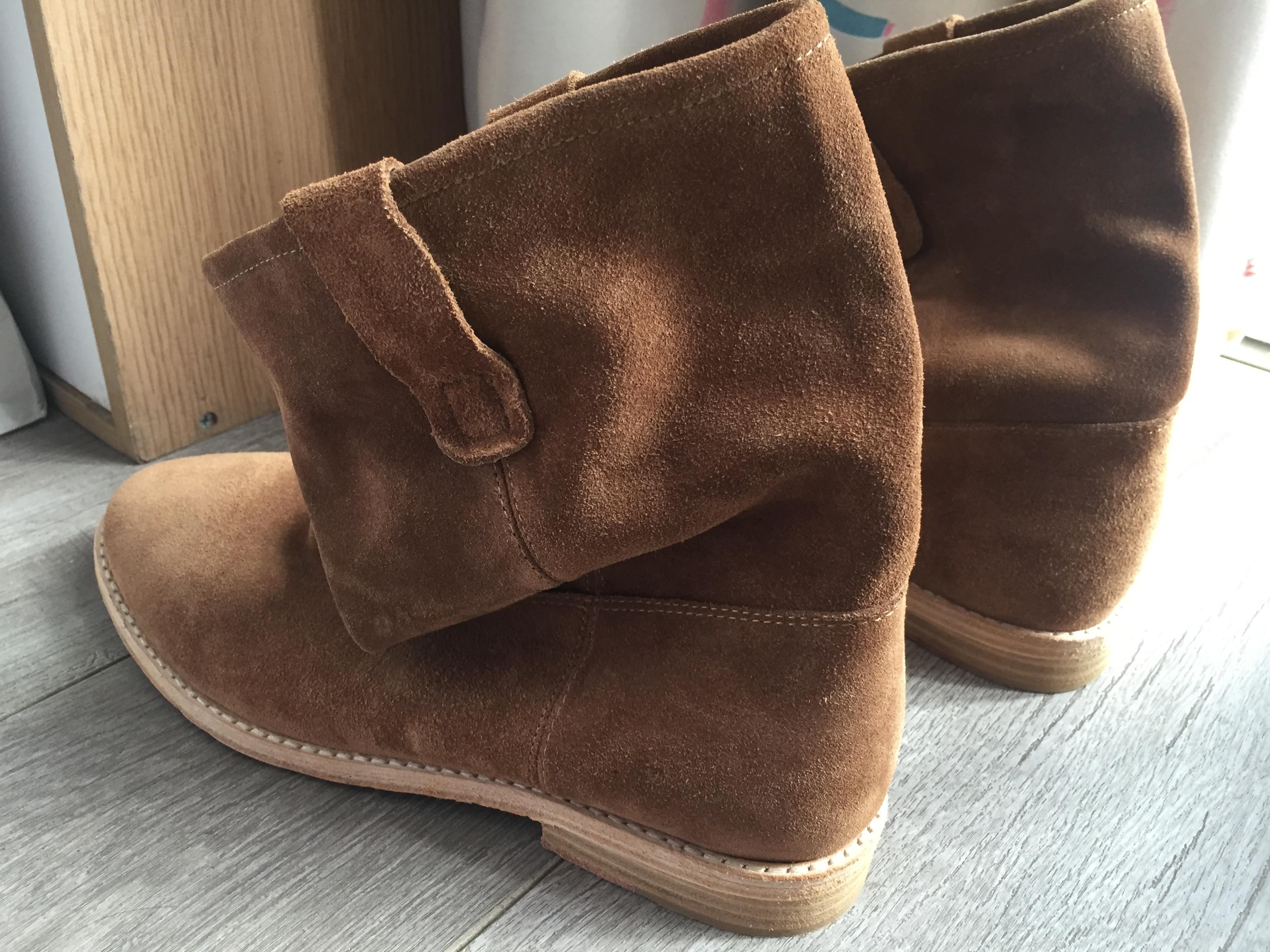 Ayakk.'ten Ayak Bileği Çizmeler'de Sıkıntı Düz/Yükseklik Artan Topuklu Rahat yarım çizmeler Retro Kovboy Çizmeleri Coy Deri Batı Çizmeler Yüksek Moda Kadın Ayakkabı'da  Grup 2
