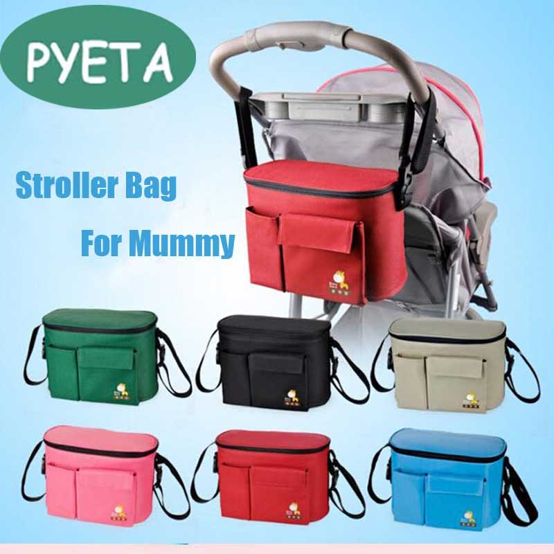 PYETA Stroller <font><b>Accessory</b></font> Insulation Bag Baby Diaper Bags Organizers Cup Basket Pushchair Travel Carriage Pram Buggy <font><b>Accessories</b></font>
