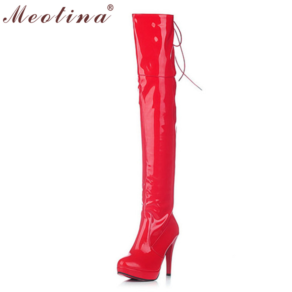 Popular Thigh High Red Leather Boots-Buy Cheap Thigh High Red ...