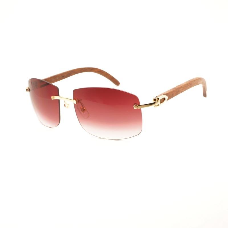 Men Sunglasses Women Buffalo Horn Glasses Frame Retro Oversized Sun Glasses Rimless Goggles Luxury Eyeglasses Shades 705 women s classic cat eye sunglasses retro metal frame eyeglasses eyewear shades