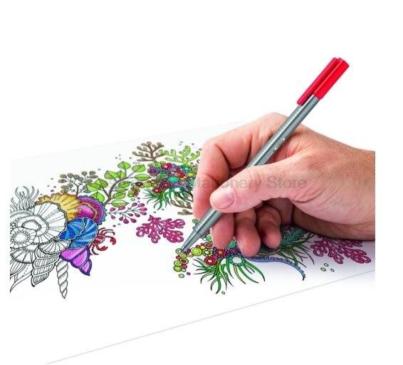 STAEDTLER 334 C36 36 color Art Marker Pens set 0.3mm Fine Draw Point art Marker Pen Water Based Ink No-tox design Creative set цена