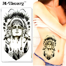M-Theory Body Makeup Temporary 3D Choker Tattoos Sticker Indian 3d Flash Tatoos Henna Tatuagem Body Arts Tatouage Tatto Sticker