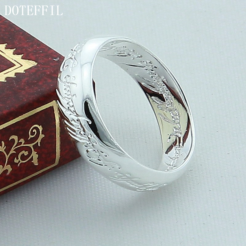 DOTEFFIL 925 srebrni prsten od skulptura od čarobnjaka za vjenčani - Fine nakit - Foto 4
