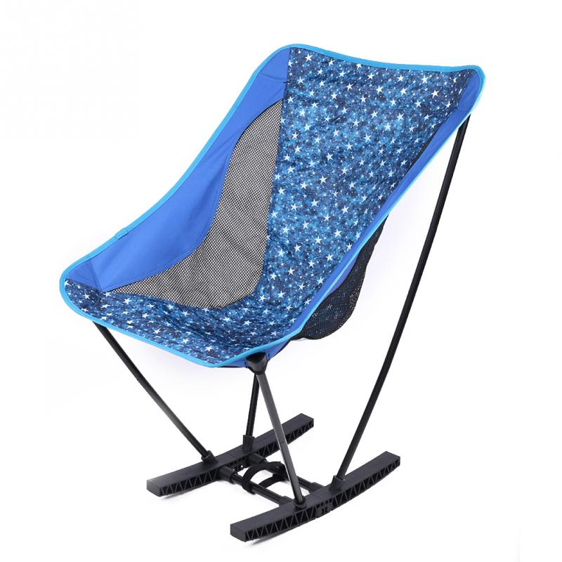 Portable Folding Camping Chair Seat Moon Leisure Stool Outdoor Sport Hiking Lightweight