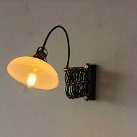 Новый дизайн loft ретро Белый гладить регулируемый чтение старинные настенные светильники фонари e27 бра для изучения мастерской спальня бар