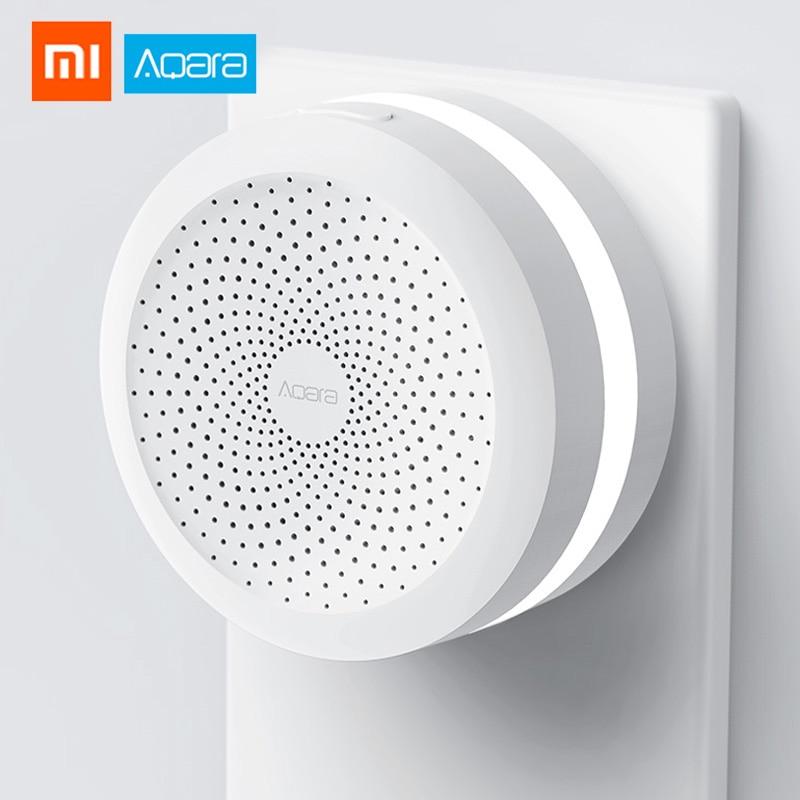 Xiao mi aqara gateway hub sem fio wifi zigbee inteligente rgb luzes nightlight para apple homekit mi casa app edição internacional