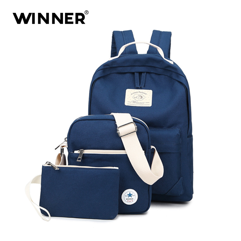 WINNER Canvas Women Backpack Preppy Style School Bags For Teenage Girls High Quality Casual Daypack for