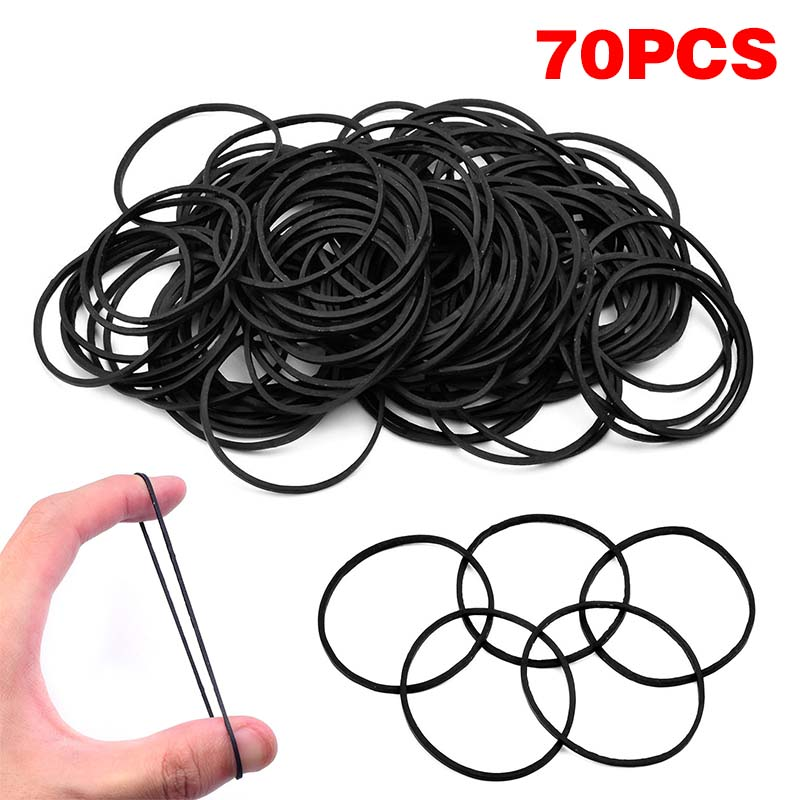 Professional 70pcs Tattoo Rubber Bands Ring Black Rubber Tattoo Accessories For Tattoo Machine Gun Tattoo Supplies New