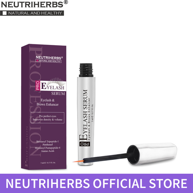ffa0336f05d Neutriherbs Eyelash Growth Serum Eyelash Enhancer Brow Serum for Long,  Luscious Lashes and Eyebrows 5ml