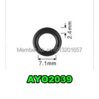 500pcs viton o rings 7.1*2.4mm auto spare parts fuel injector seals for denso injector (AY O2039 )