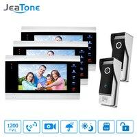 JeaTone Video Door Phone 1200 TVL IR Night Vision Camera 2V3 7 LCD TFT Monitor Video Intercom System for Villa Home Take Photo