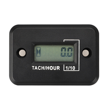 Portable Digital Tach IP68 Hour Meter Gauge LCD for 4 Stroke Gas Engine Offroad Panel Hour ATV Motorcycle Generator Bike new timer control panel gauge hour meter 285 9075 for 320c 320d