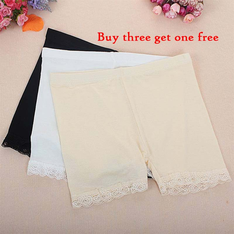 Summer Women Safety Shorts Under Skirt Anti Chafing Women Shorts Pants Plus Size High Panties Underwear Sexy Lace Briefs Clothes
