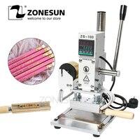 ZONESUN ZS 100A Custom Logo Hot Foil Stamping Machine Manual Bronzing Machine For PVC Card Leather Paper Pencil Stamping Machine