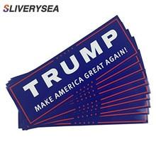 10 pcs 도널드 트럼프 대통령 2020 범퍼 바디 자동차 스티커 다시 미국 장식 자동차 스타일링 패션 23x7.6 cm