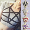 Red/Purple/Black/White 1.5 and 2.0cm Adjustable Pentagram Shape BDSM Harness Harajuku Body Bondage Fetish Wear O0065
