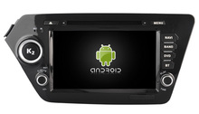 Android 5.1.1 CAR Audio DVD player FOR KIA K2 / RIO gps Multimedia head device unit  receiver BT WIFI