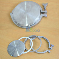 1 Set SUS SS316 SS304 304 316 Stainless Steel 8 8 Inch Sanitary End Cap + 8 Tri clamp + 8 PTFE Gasket + 8 Weld on Ferrule