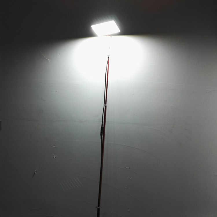 12 В светодиодные фонари для кемпинга 3,75 м телескопическая удочка наружная батарея свет подсветка для удочки белый