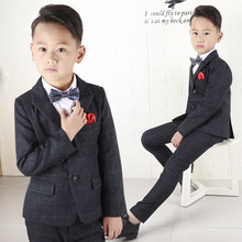Boys suits for weddings costume blazer British style boy formal wedding suit jacket boy birthday suit dress H477 цена и фото