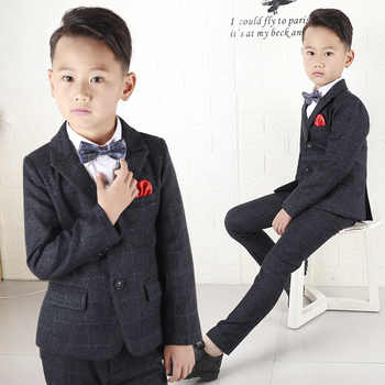 Boys suits for weddings costume blazer British style boy formal wedding suit jacket boy birthday suit dress H477 - DISCOUNT ITEM  32% OFF All Category