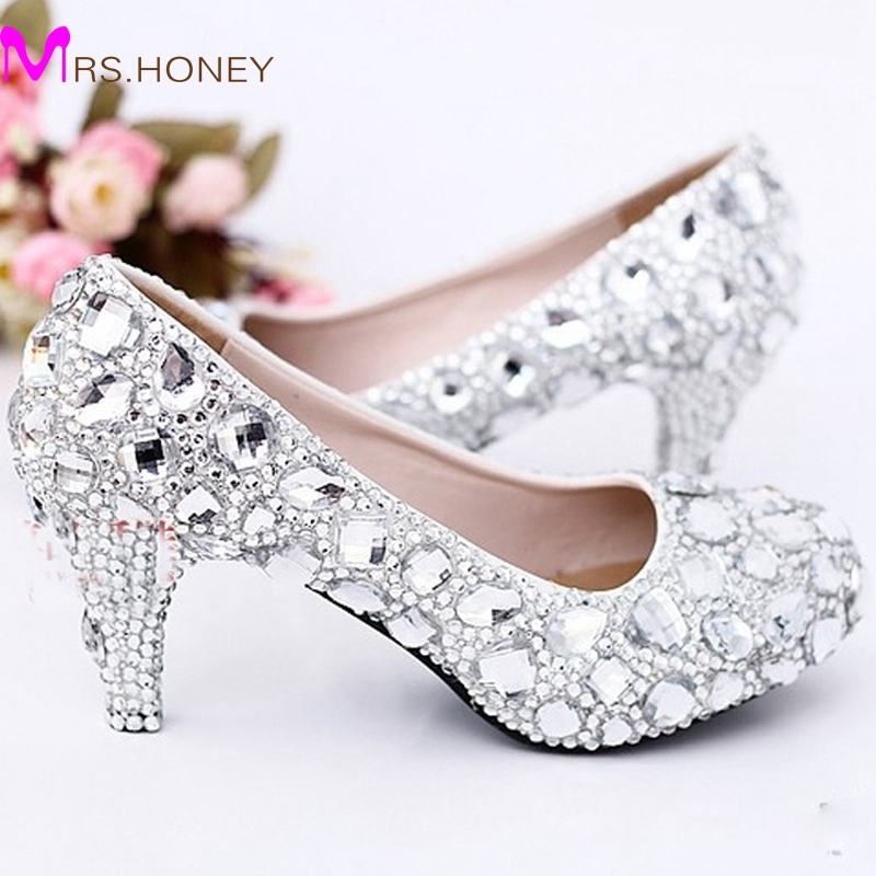 Buy silver bridesmaid heels and get free shipping on AliExpress.com