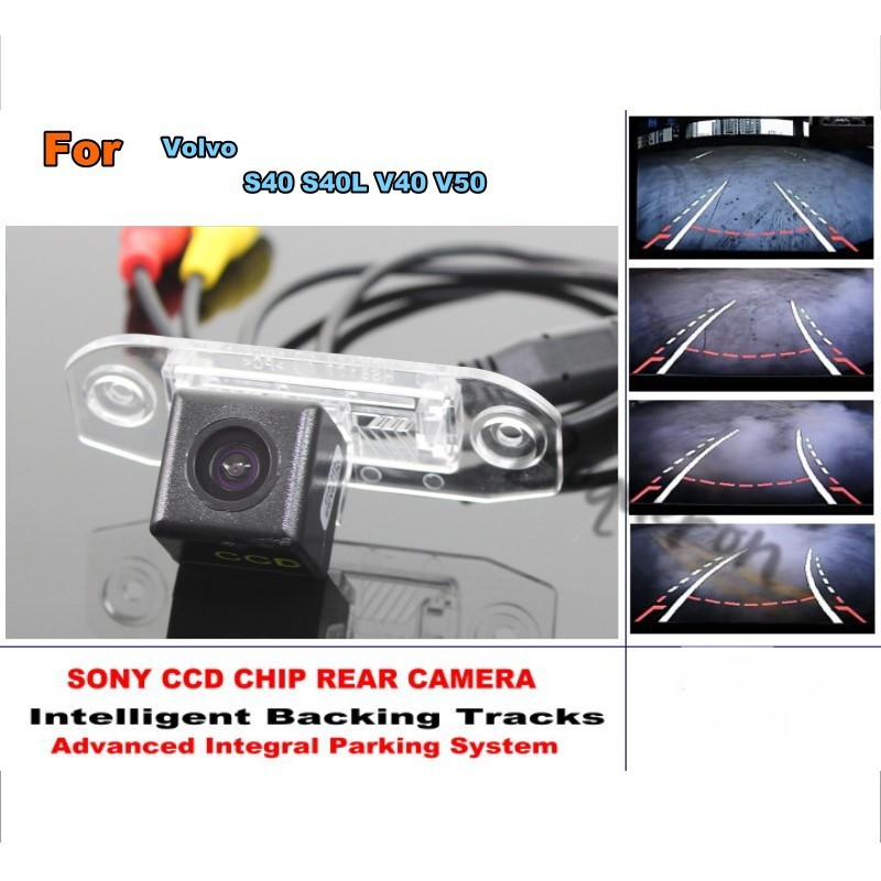 For Volvo S40 S40L V40 V50 Smart Tracks Chip Camera HD CCD Dynamic Guidance Tragectory Car Rear View Camera Intelligent Dynamic for mazda 6 mazda6 atenza 2014 2015 ccd car backup parking camera intelligent tracks dynamic guidance rear view camera