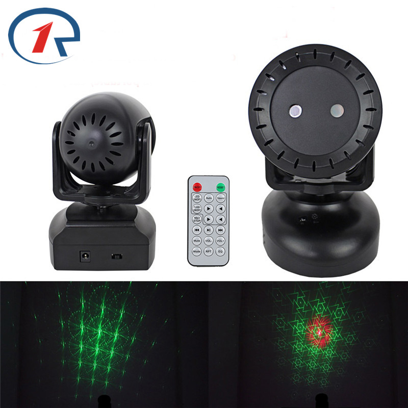 ZjRight IR Remote Red Green Laser Moving head Stage Light USB memory card to play music Voice activated laser lights KTV dj bar vale music fest 2017 green card 7 dias