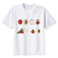 Xi0 lychee новая футболка женская футболка с принтом женская футболка 2018 новые женские топы T2626