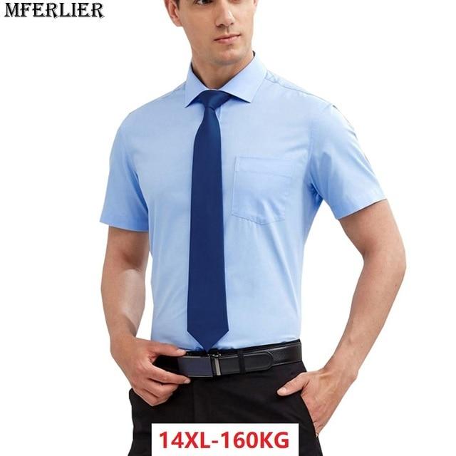 48e779e774c summer larger plus big size 7XL 8XL short sleeve shirts men Pink wedding  9XL 10XL work 11XL 12XL 13XL 14XL Dress shirts Business