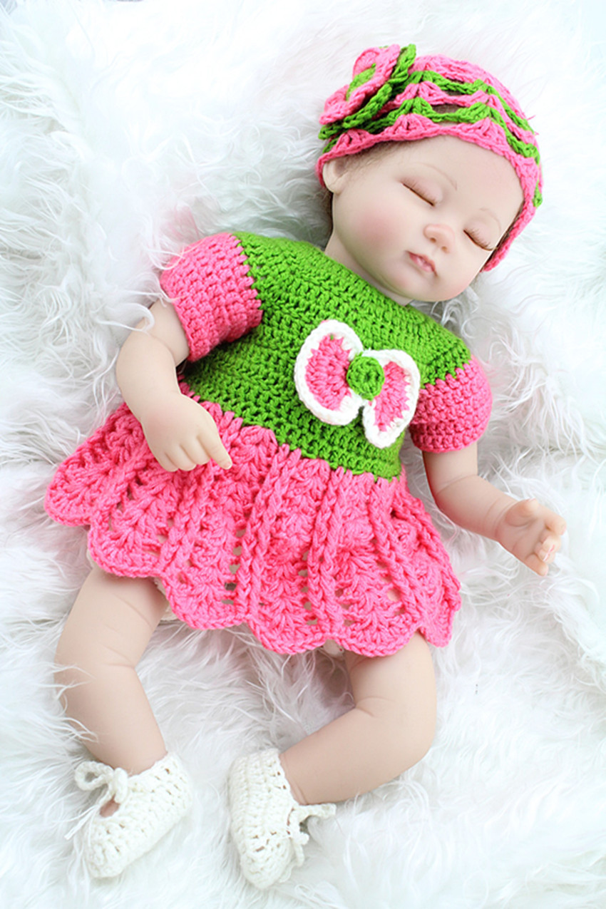 45cm extreme cute girl baby doll fashionable doll player sweater hat