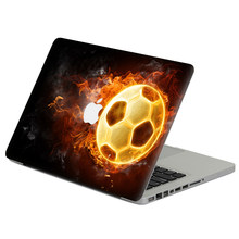 "Fiamma calcio Laptop Decal Sticker Pelle Per MacBook Air Pro Retina 11 ""13"" 15 ""vinile Mac Notebook Case Corpo Pieno Della Copertura Della Pelle(China)"