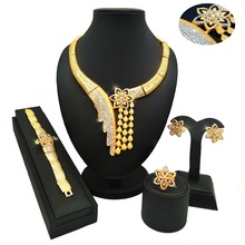 african jewelry free shipping DHL 24K gold sets color guranteed high quality jewery set