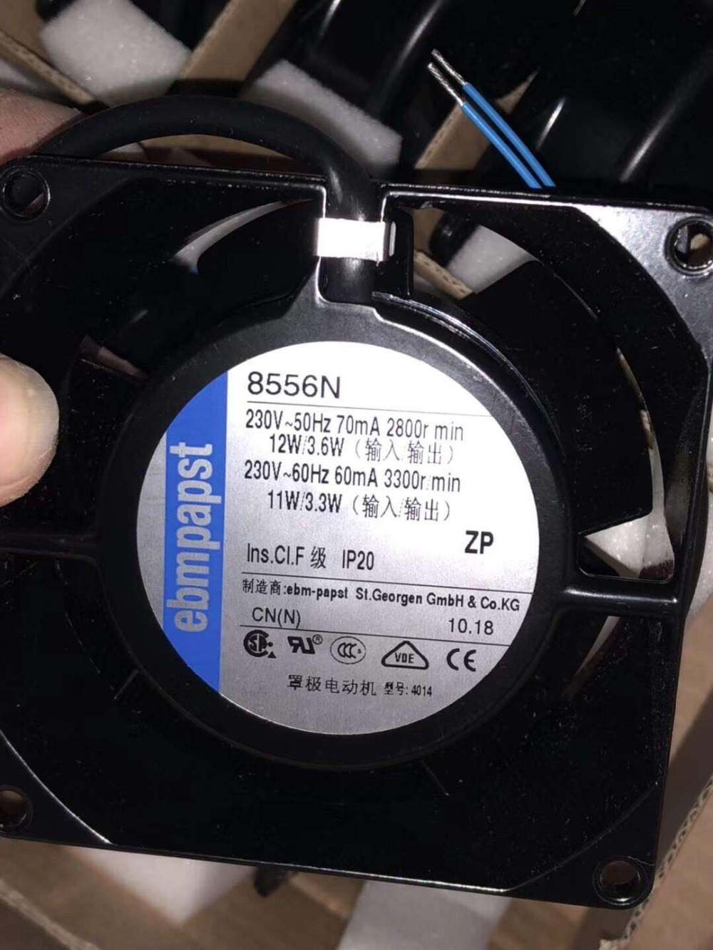 Tout neuf pour PAPST 8556N 80mm 8038 80x80x38mm ac 220 V-230 V ventilateur axial de refroidissement tout métal haute température