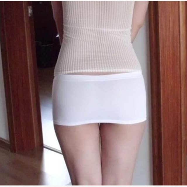 5d243f562 € 6.14 50% de DESCUENTO|Señoras caliente Bodycon vendaje elástico falda  Micro Mini erótico baja cintura Clubwear club nocturno Sexy Color sólido ...