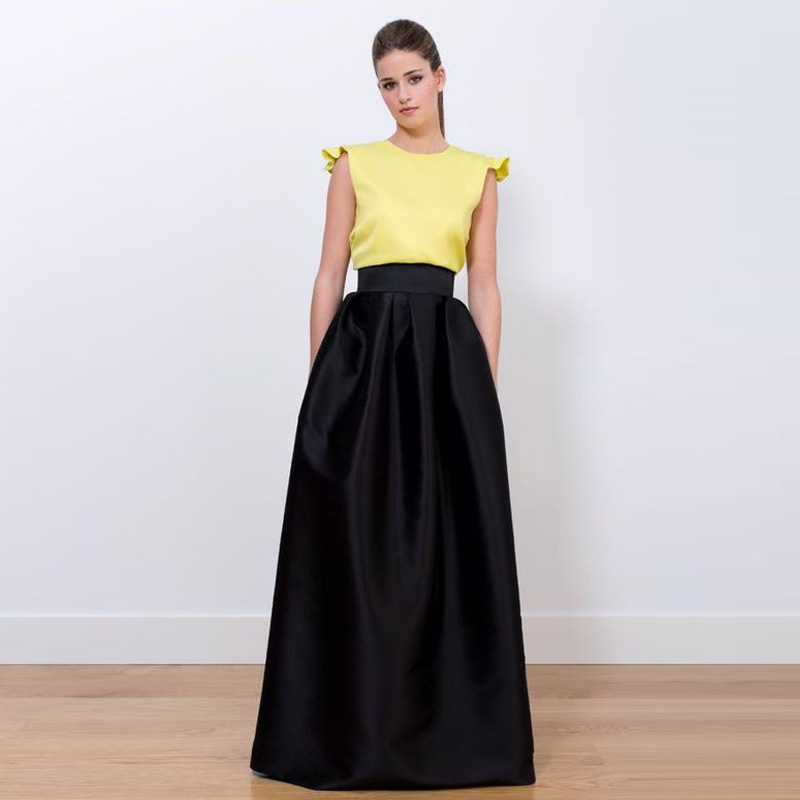 Online Buy Wholesale long black satin evening skirt from China ...