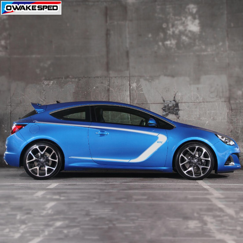 For Opel Astra GTC Racing Sport Styling Vinyl Decal Auto Body Door Side Decor Stickers Car Protection Accessories