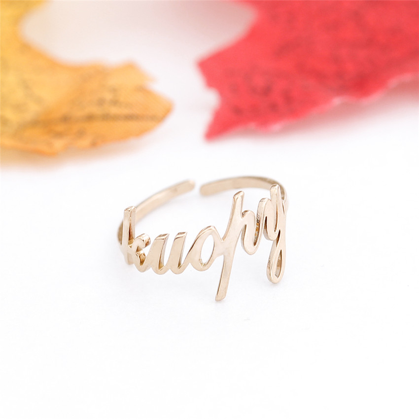ALI shop ...  ... 32806395853 ... 4 ... Free Size Gold Silver Stackable Custom Personalized Name Ring For Women Best Friends Wedding Stainless Steel Christmas Gifts  ...