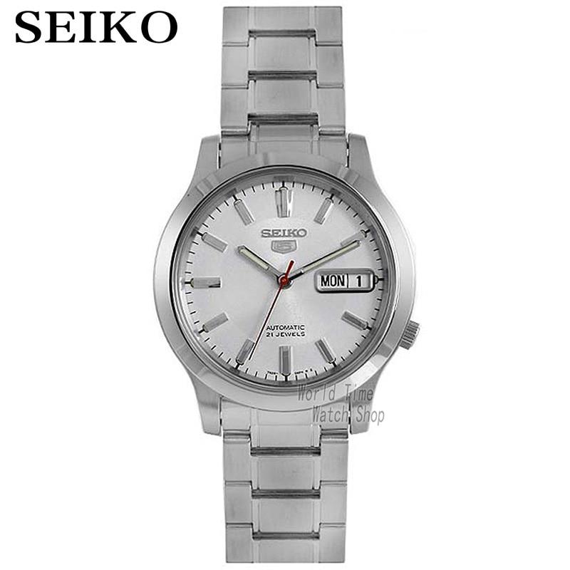 Seiko male watch fashion mechanical night light men's day watch SNKK07K1 SNKK09K1 SNKK17K1 цена и фото