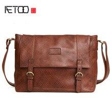 AETOO The new leather men 's bag fashion casual cross men' s shoulder bag Messenger bag men 's bag