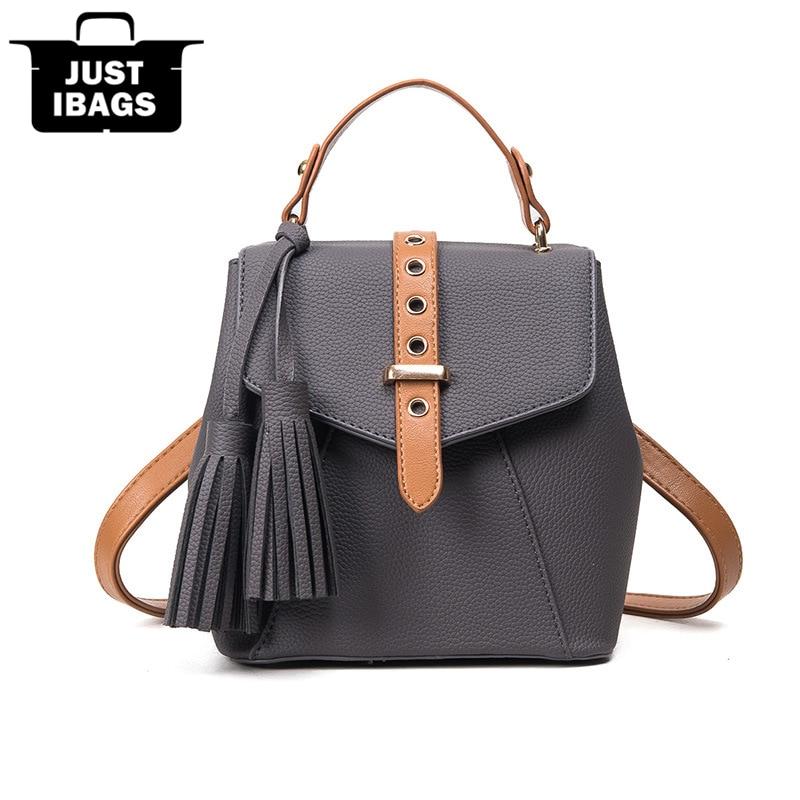 Fashion tassel women PU leather handbags Totes Multifunctional single/double sho