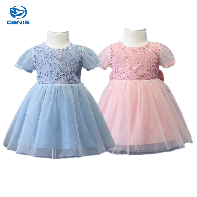 8b78f339d Baby Kids Girls Dress Lace Floral Bowknot Party Dance Bridesmaids ...