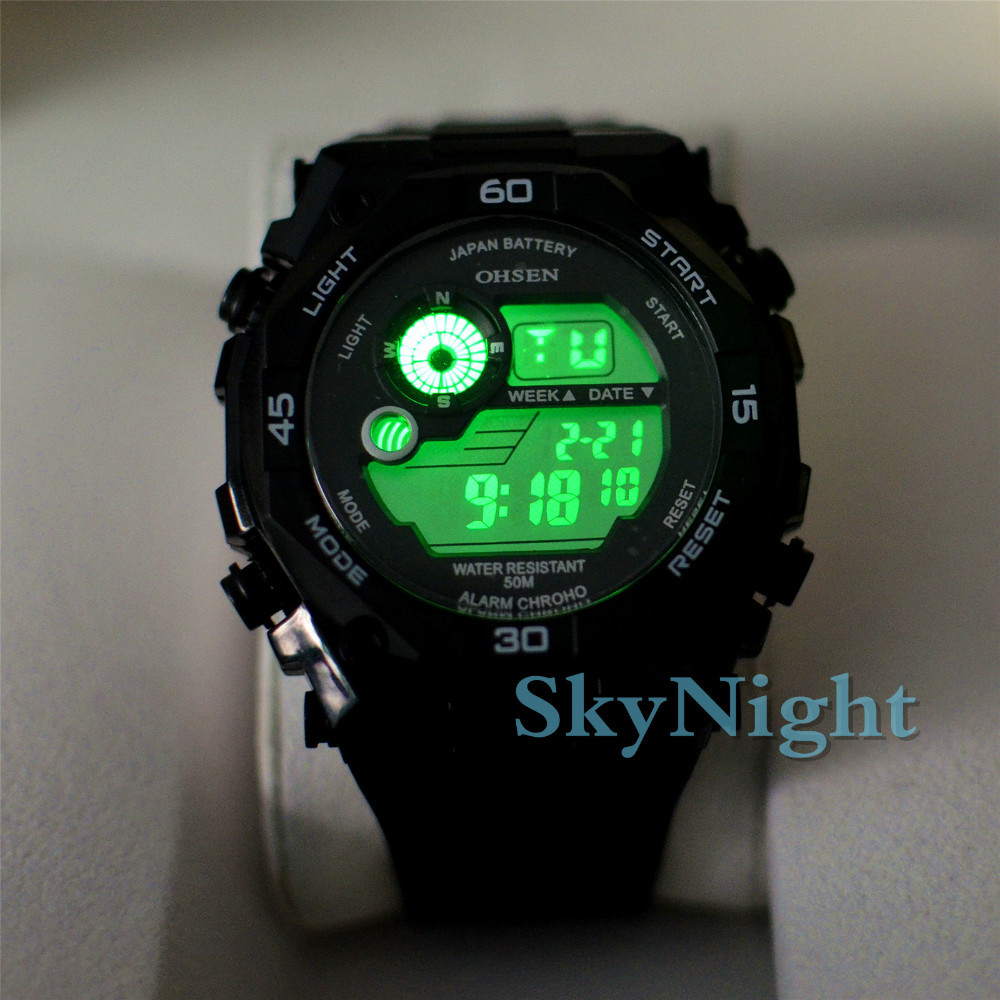 wristwatches stop watch clock steel luminous item luxury genuine brand sports dive casual sport canvas hours fashion quartz from men case on strap cool waterproof in army watches military led