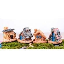miniatura lindo casa de piedra estatua de decoracin del hogar ornamento de hadas jardn decoracin hogar