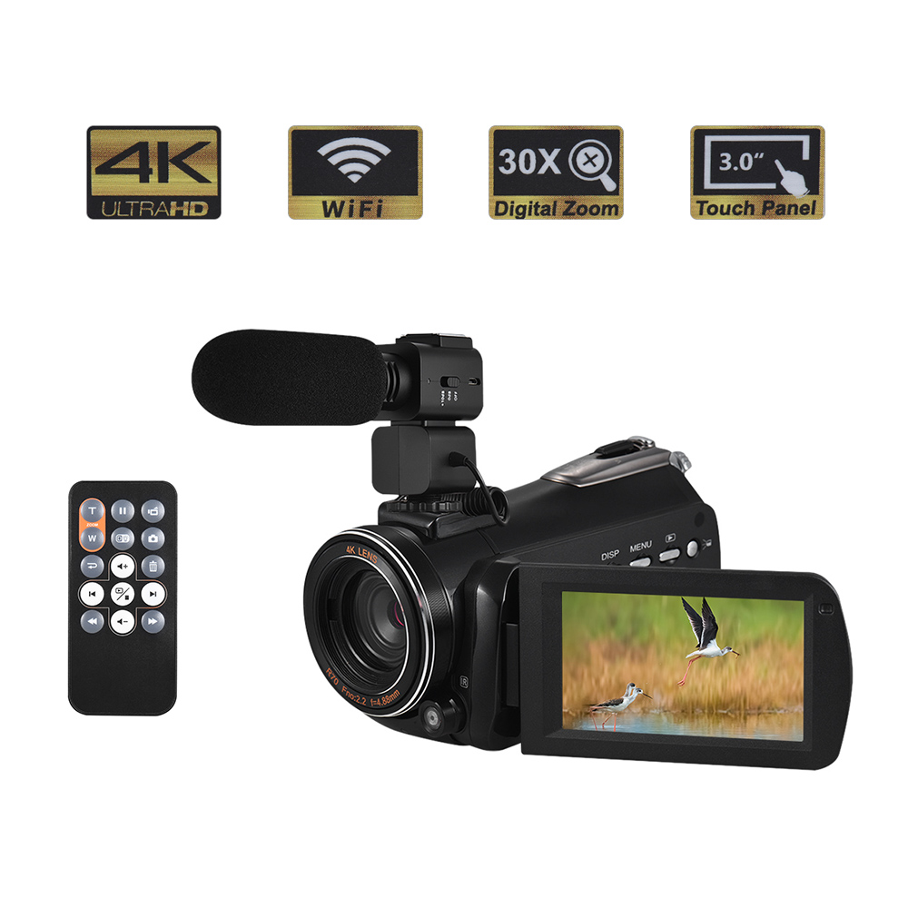Andoer 4K Prtable Digital Video Camera Camcorder 24MP Lightweight Camera DV Recorder Professional Camera Camera IR