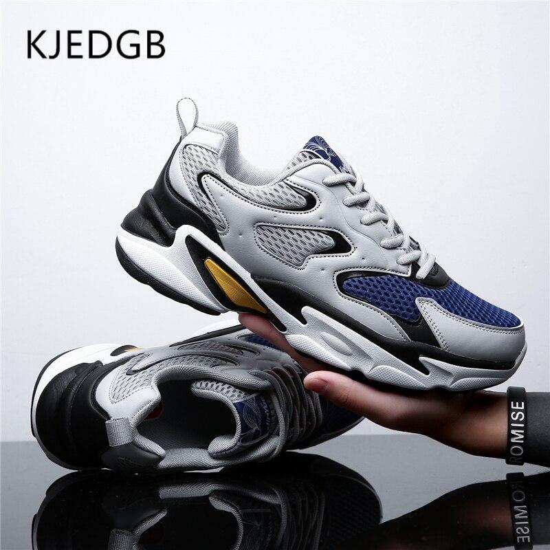 KJEDGB 2019 New Arrival Men Platform Sneakers Summer Mesh Breathable Chunky Mens Shoes Casual Adult Male Tennis Man Dad Shoes