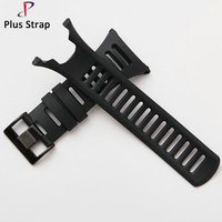 24mm Black Buckle Silicone Watch Band Strap Watch For SUUNTO Ambit 1 2 3 2R 2S