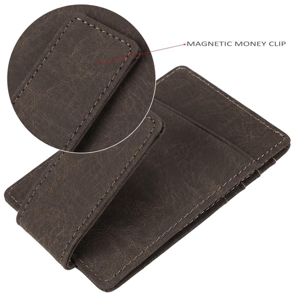 dinheiro clipe carteira de couro Feature : Mulitiple Pcokets, wallet, money Clip, card Holder
